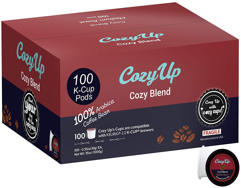 CozyUp 100-Count Signature Blend Coffee K Cups for Keurig K-Cup, Medium Roast