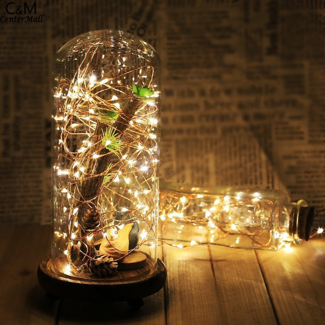 Table centerpieces for weddings amazon topfashion led moon lights 20 micro starry leds on extra thin copper wire7 ft junglespirit Images
