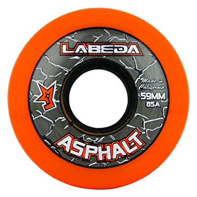 Labeda Wheels Inline Roller Hockey Gripper Asphalt Outdoor Orange 59mm 85A x1 : Sports & Outdoors