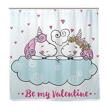 Vaya cortinas de ducha amante Unicornio imprimir pruebas de molde impermeable resistente al moho cortina de ...