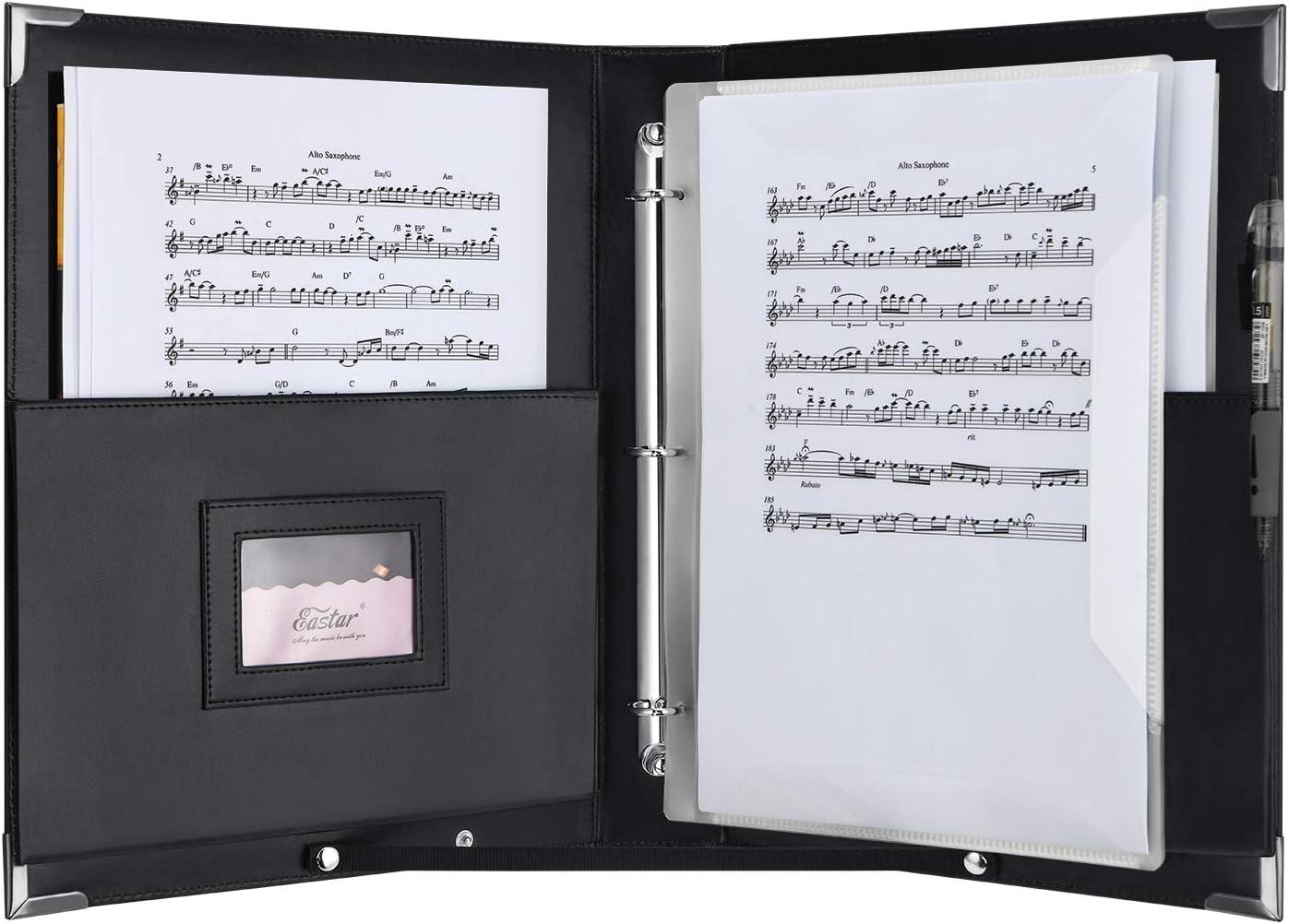 Eastar ESMF-1 - Carpeta de concierto de música (piel sintética ...