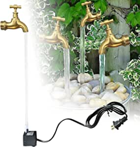 Invisible Flowing Spout Watering Can Fountain, Floating Faucet Water Fountain Kit, Fountain Yard Art Decor, Suspended Faucet Waterfall Statue Yard Art Decor(with Water Pump)