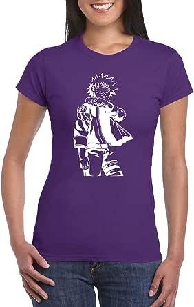 Purple Female Gildan Short Sleeve T-Shirt - Young Naruto design
