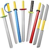 Foam Swords for Kids - 22 inch Ninja Sword Foam Weapons Toy 8 Pack - Kids Toy Sword Warrior Ninja Samurai Knight Pretend Play