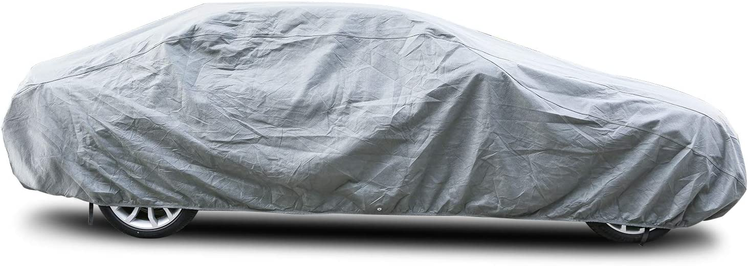 Arch Motoring Car Cover, 3 Layer Dustproof Windproof Breathable Car Covers for Automobiles, Fit Full Car Up to 200""