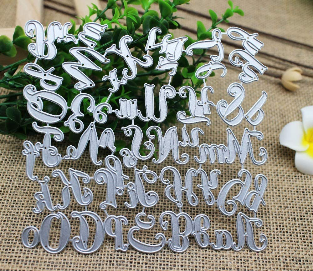 Stitched Alphabet Cutting /& Embossing Dies Capital Letters For Cards Décor