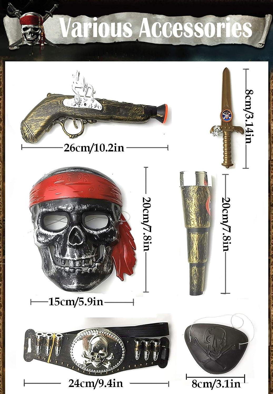 Plastic Pirate Sword Gun Eyepatch Fancy Dress Costume Accessories Cutlass Musket