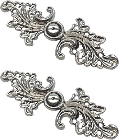 Sweater Clips or Cloak Clasp Pewter Locking Clip