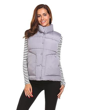818b17bc7d6 SoTeer Women Down Vest Packable Lightweight Outdoor Puffer Vest Coat ...