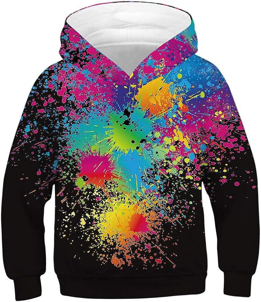 Imbry Boys Girls 3D Printed Hoodie for Kids Animal Hooded Pullover Sweatshirt