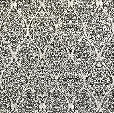 QUADRUPLE ROLL 113.52sq.ft(4single rolls size) Slavyanski wallcovering washable gray black Victorian damask Vinyl Non-Woven Wallpaper textured glitters 3D diamond fabric pattern vintage style textures