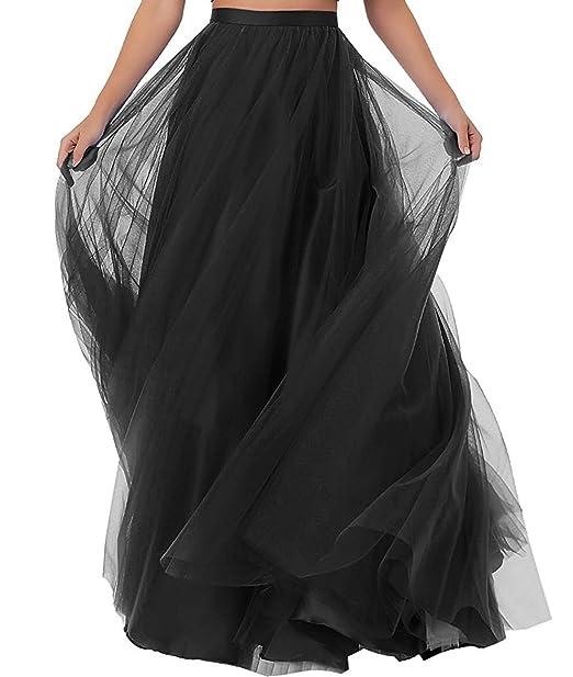 3d0a1892c7 Duraplast Women's Prom Long Skirt Plus Size Tutu Skirt Formal Black