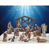 Fantastic Amazon Com Kirkland Signature 13 Piece Nativity Set Hand Download Free Architecture Designs Crovemadebymaigaardcom