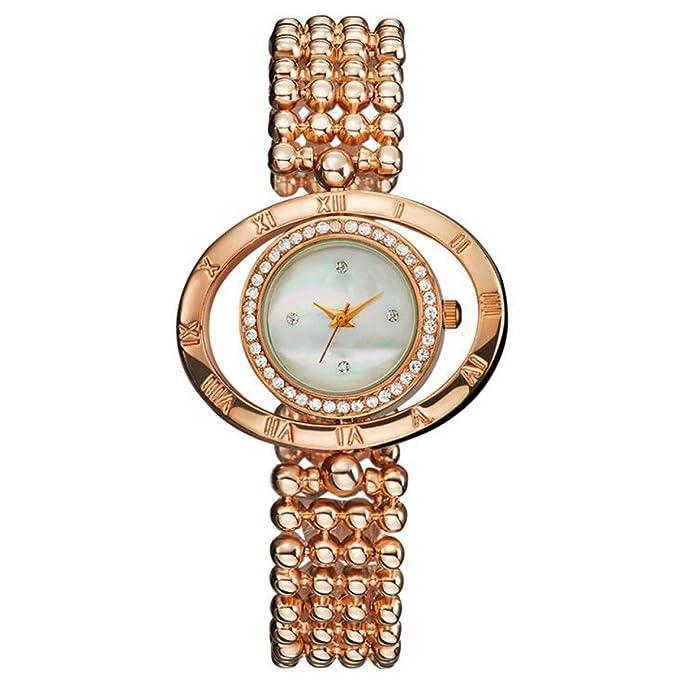 Zhenbei De Diamantes Antiguos Decoración De La Mesa Redonda De Aleación De Mujer De Cuarzo Reloj