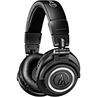 Audio-Technica ATH-M50xBT Over-Ear Bluetooth Headphones with Mic