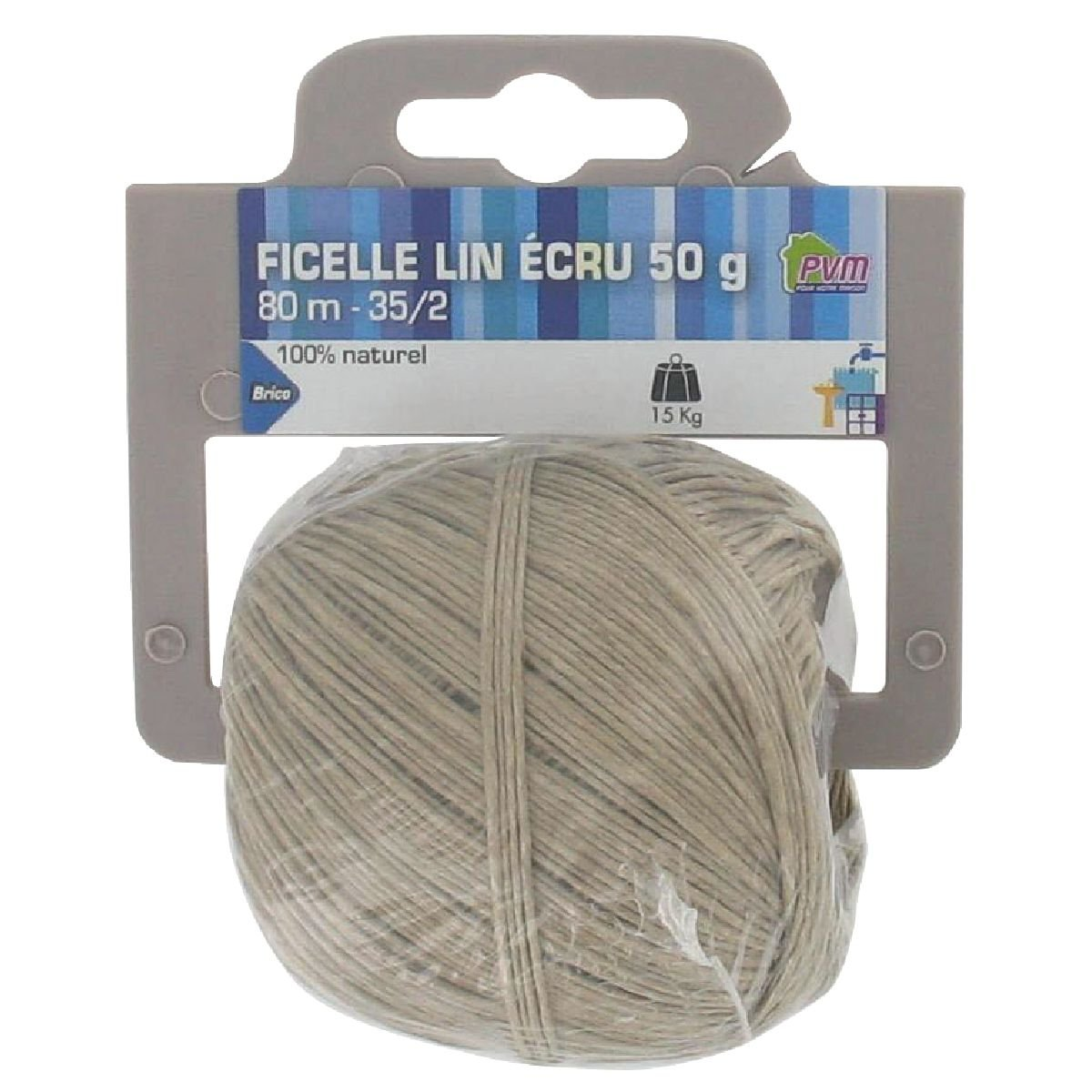 Diam/è tre 1 mm Bricodeal Longueur 80 m Ficelle lin /é cru PVM