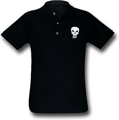 Marvel Símbolo de el Castigador Camisa de Polo para Hombre - Negro ...