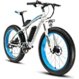 Cyrusher XF660 Electric Bike 48V 500W/1000W Men Mountain Ebike 7 Speeds, 26 inch Fat Tire Road Bicycle Citybike with Disc Brakes and Suspension Fork (Removable Lithium Battery)