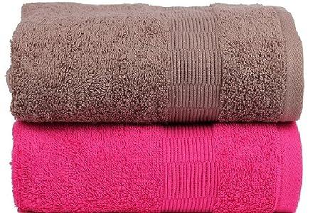 Casa Basics 2 piezas de secado rápido toallas de yoga, Gym, Viaje, Camping, Exterior, de deporte de color marrón y rosa