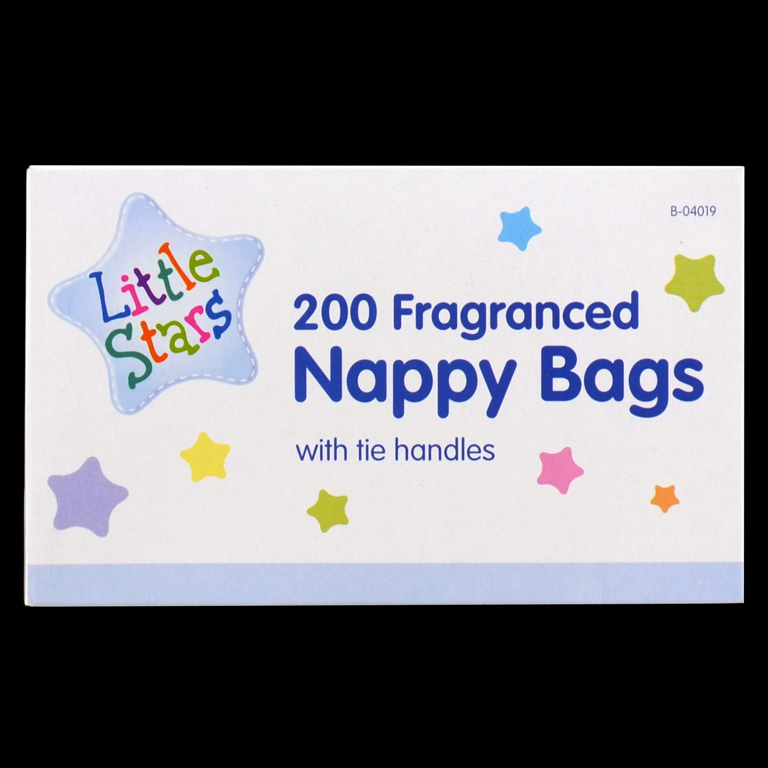 TidyZ Disposable Fragranced Nappy Bags With Handles, 200-Piece