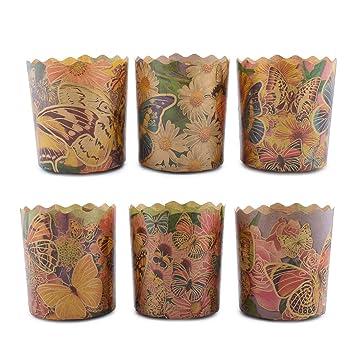 Moldes de papel de pan de Pascua para repostería de 6 x 6,5oz para repostería, paska, kulich, A2: Amazon.es: Hogar