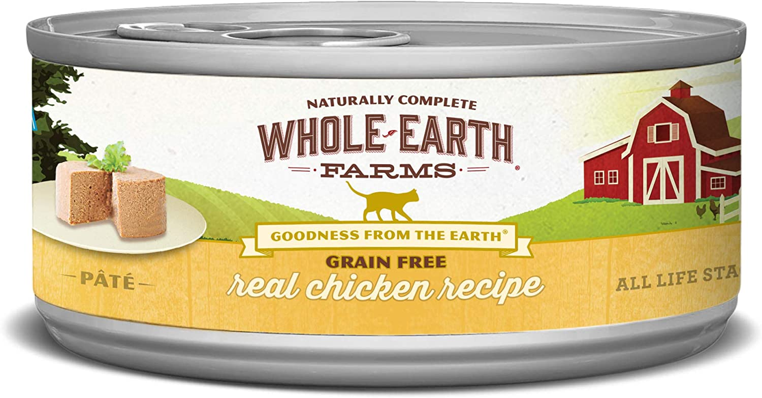 Whole Earth Farms Grain Free Canned Wet Cat Food (Case of 24)