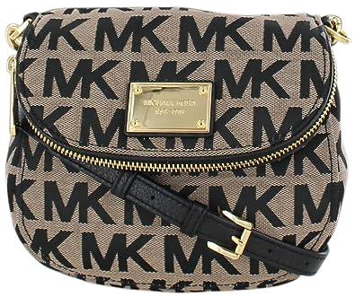 michael kors jet set item flap crossbody beige black gold handbags rh amazon com
