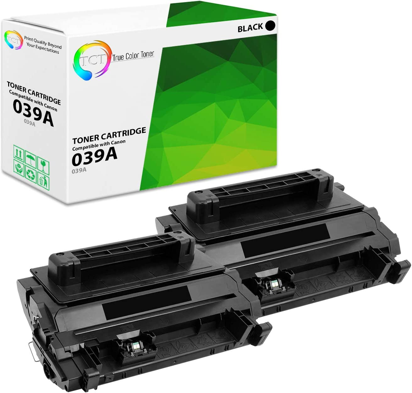 11,000 Pages TCT Premium Compatible Toner Cartridge Replacement for Canon 039 Black Works with Canon ImageClass LBP351dn LBP352dn Printers 4 Pack