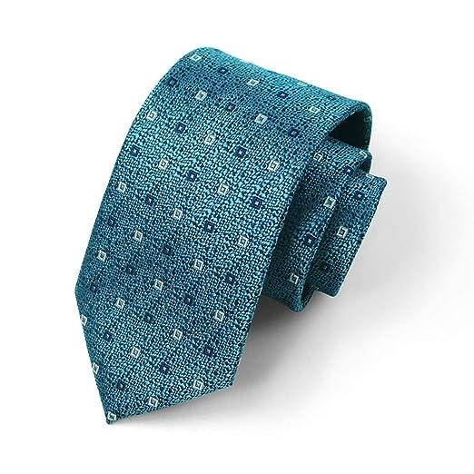Corbata de los Hombres Seda Ancho 8 cm Moda Azul Claro Impresión a ...