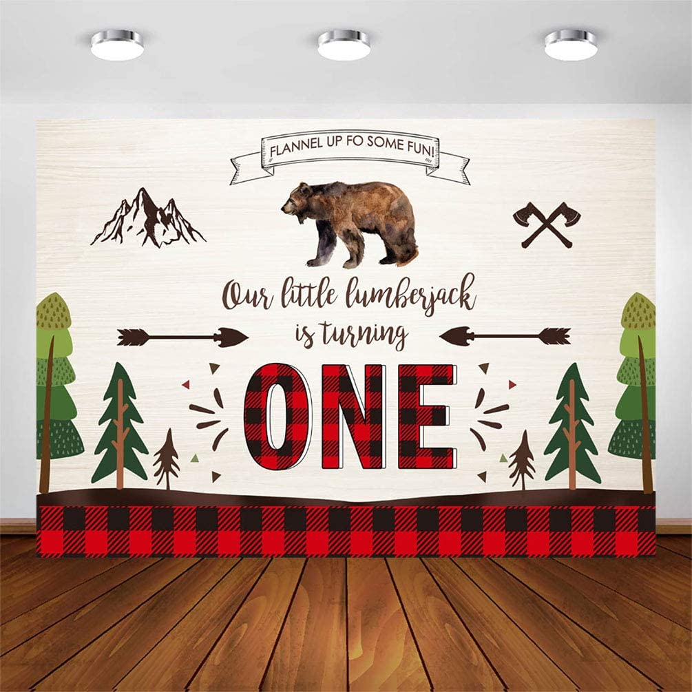 8x12 FT Plaid Vinyl Photography Backdrop,Lumberjack Fashion Buffalo Style Checks Pattern Retro Style with Grid Composition Background for Baby Birthday Party Wedding Graduation Home Decoration