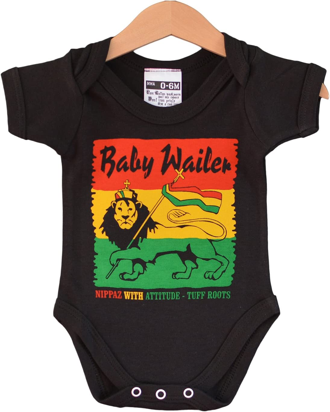 Baby Wailer - Reggae Baby Grow. para bebés de 0 a 6 meses: Amazon.es: Bebé