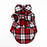 Dress Clothes Flannel style Shirt Vest Costume for small Dog Puppy Cat - Size M