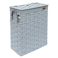 Ehc SlimLine Laundry Linen Basket Bin Bathroom Storage Hamper Basket With Lid