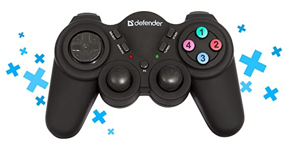 Defender Game Racer Wireless PRO - Volante/mando (Gamepad, PC, Playstation,