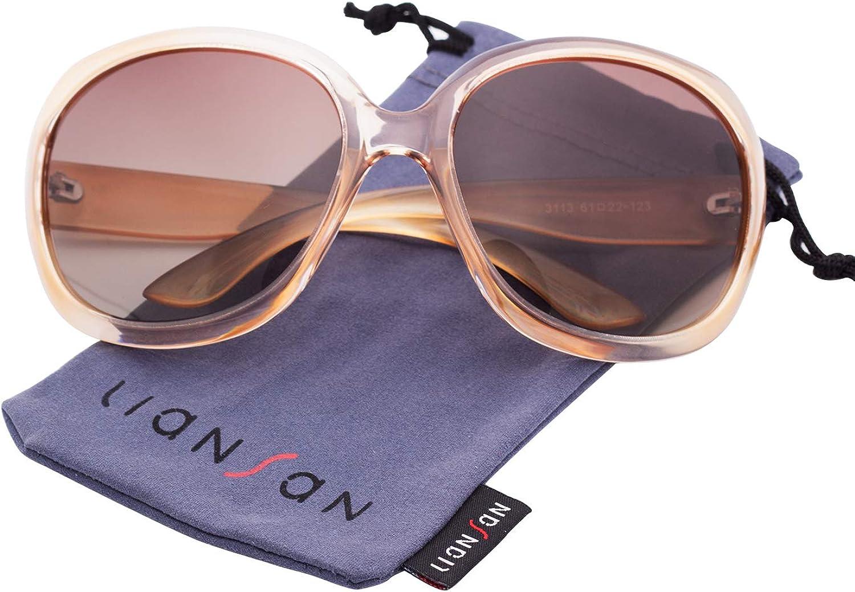 LianSan Gafas de Sol de Diseñador de Moda Para Mujer UV400 Protección Polarizada Gafas de Sol de Gran Tamaño LSP301