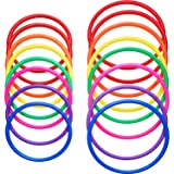 16 Pieces Plastic Multicolor Toss Rings for Speed
