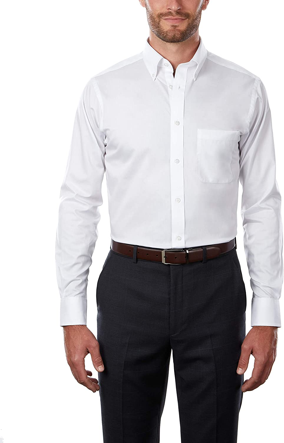 Izod Men's TALL FIT Dress Shirts Stretch Solid (Big and Tall) at  Men's Clothing store
