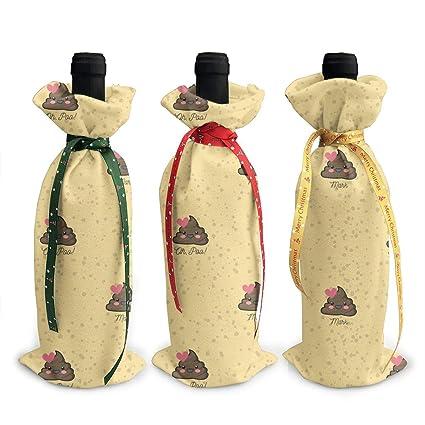 Amazon com: BLACK SP 3Pcs Christmas Wine Bottle Cover Poop