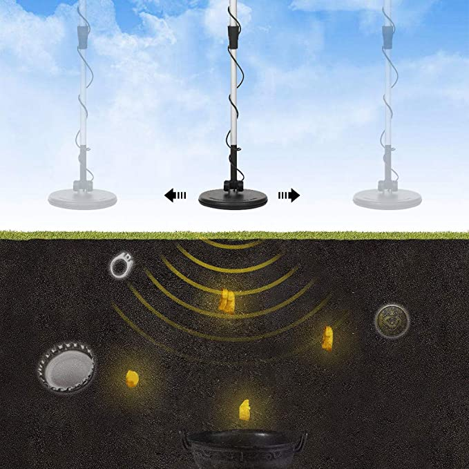KKmoon Niños Subterráneo Metal Detector Oro Detectores Tesoro Cazador Rastreador Buscador Metal Circuito Detector: Amazon.es: Electrónica
