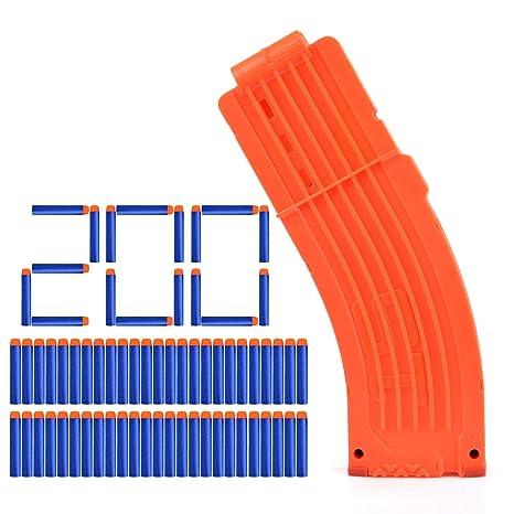 Lommer Dardos con Cargador, 200 pcs Dardos Suave Balas Darts ...
