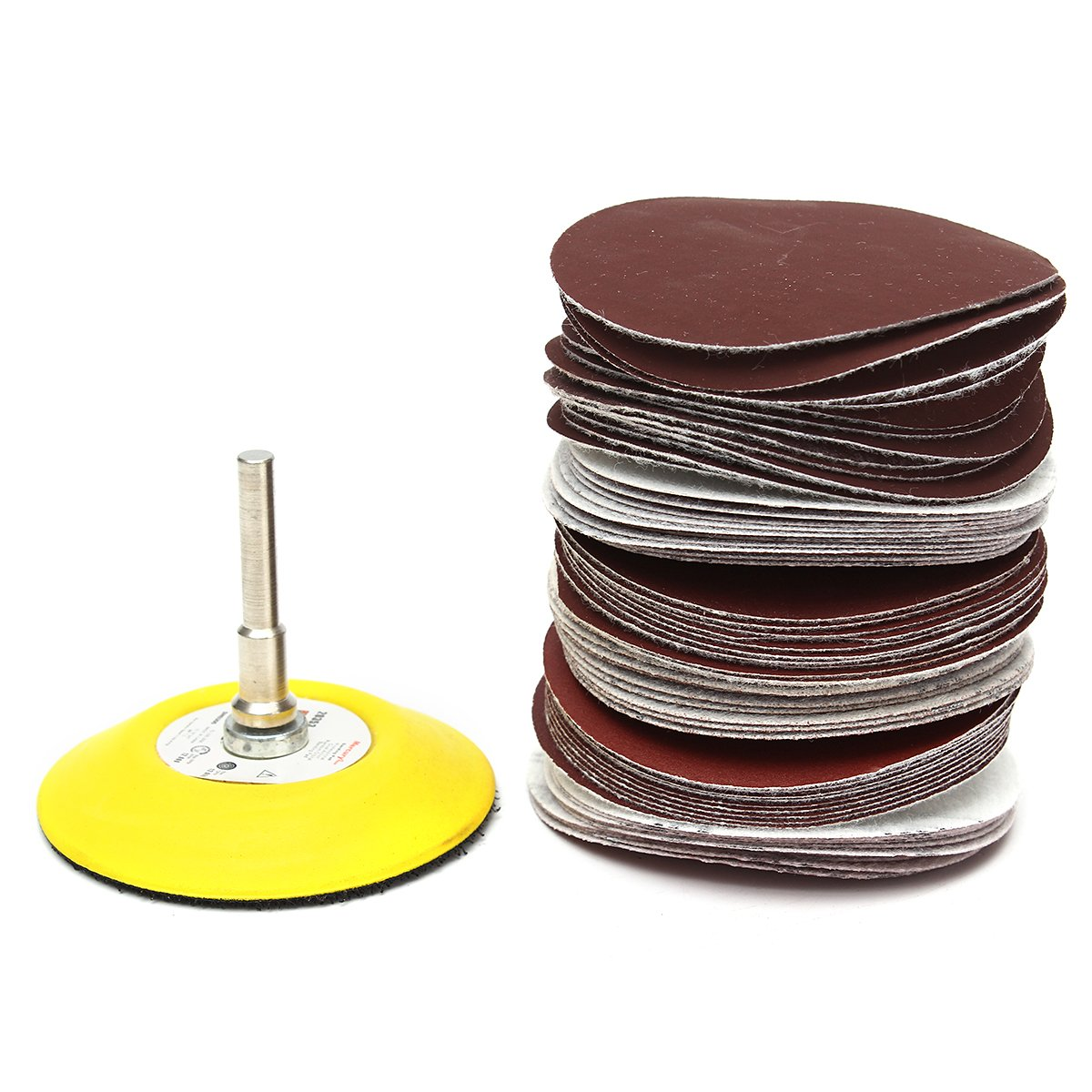Jeteven 100 Pcs Sanding Discs, 2 inch 80-3000 Grit Sander Discs Pads for Sandpaper Sheet Assorted JETEVENHOCORA1137