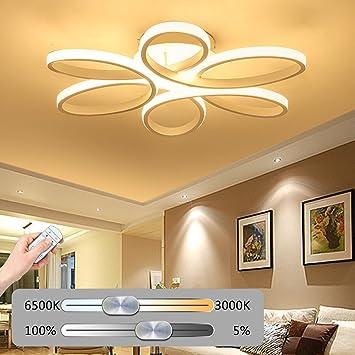 Deckenleuchte LED Dimmbar Deckenlampe Moderne Wohnzimmerlampe Kunst ...