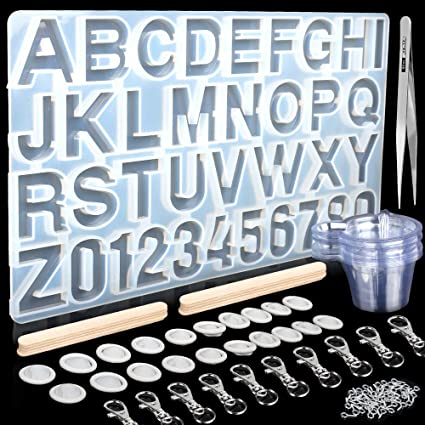 DIY Silicone Mold Alphabet Number Resin Epoxy Casting Jewelry Handcraft Tool