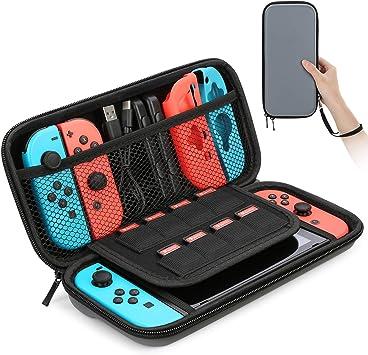HEYSTOP Funda para Nintendo Switch, Funda de Viaje para Nintendo Switch con Más Espacio de Almacenamiento para 8 Juegos, Funda para Nintendo Switch Console & Accesorios (Gris): Amazon.es: Electrónica