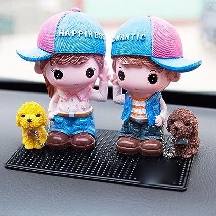 amazon com uzoho lovely cute couples car ornament car interior