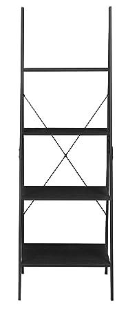 Niche NSBC7224EB Soho Modern Ladder A Frame Bookcase, 72 H x 24 W, Ebony