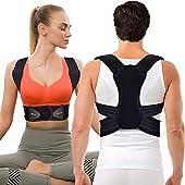 JOFLY Posture Corrector for Women Men Breathable Adjustable Upper Back Brace Straightener Posture Trainer Comfortable /& Washable