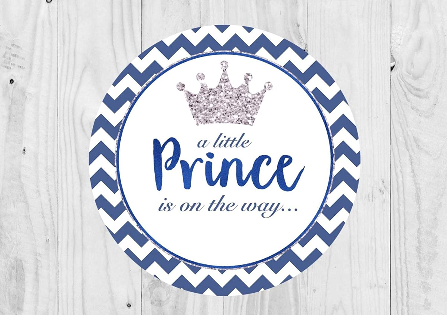 A Little Prince in on The Way Baby Boy Glossy Pack of 35 Prince Baby Shower Stickers Sweet Cone Stickers Baby Shower Thank You Stickers