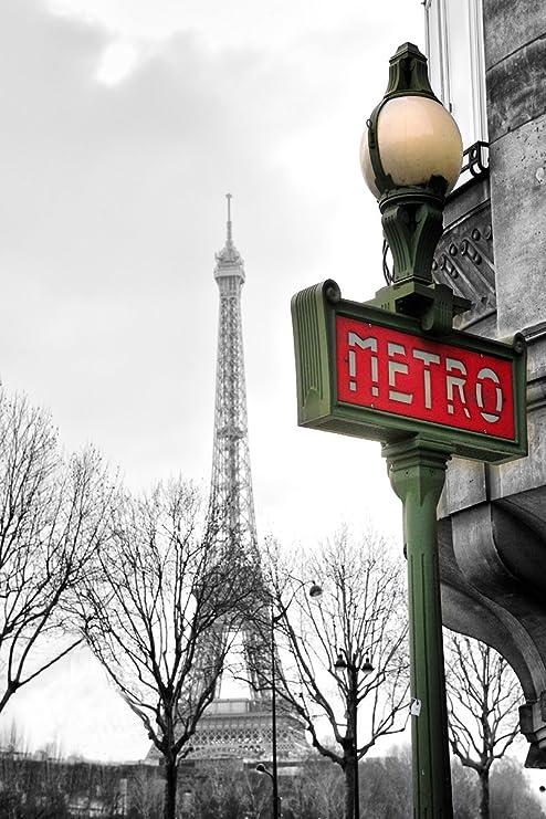 Paris Metro Station Print Art Nouveau Poster