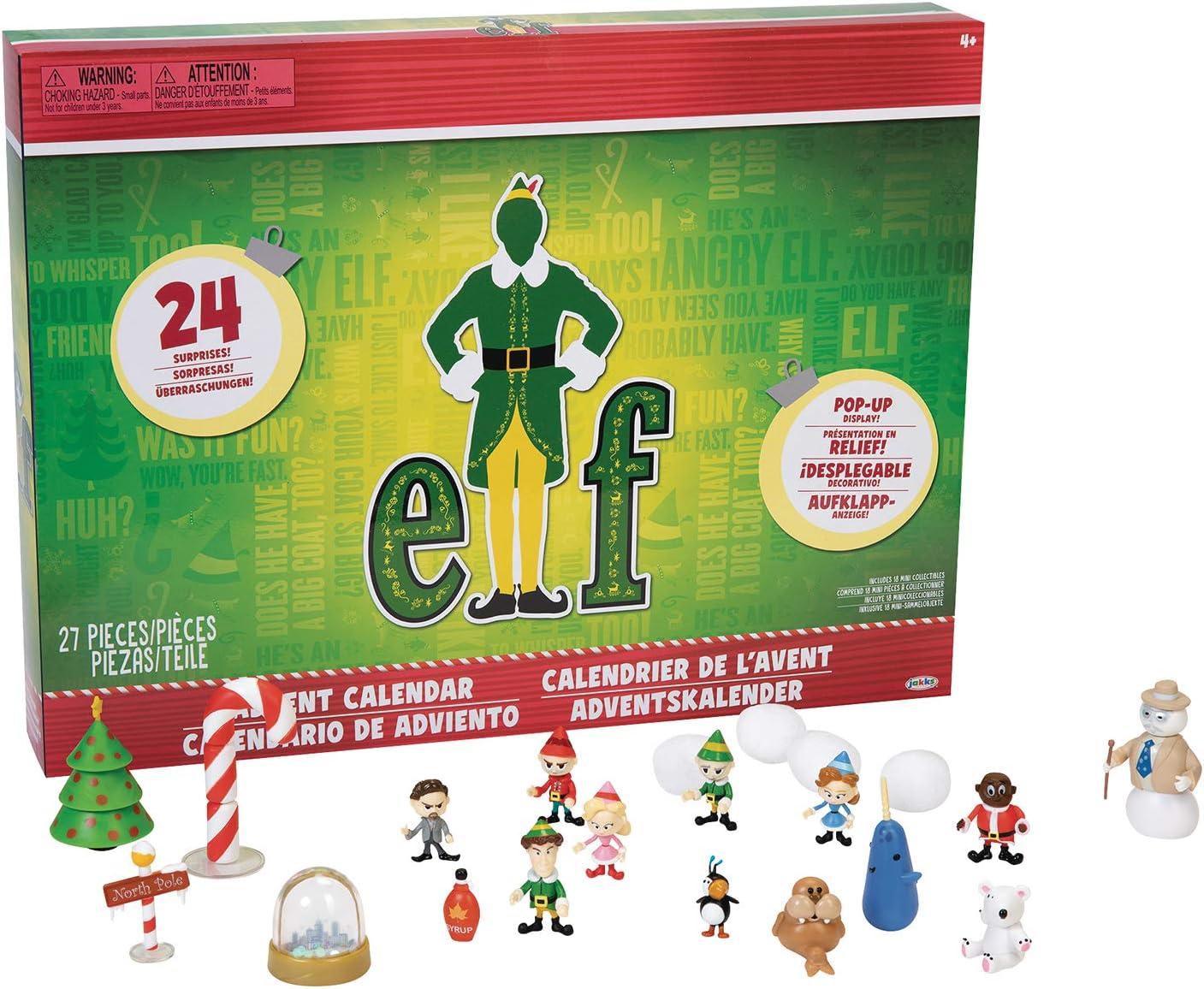Elf Advent Calendar, Enjoy 24 Days of Fun Collectible Surprise Figures